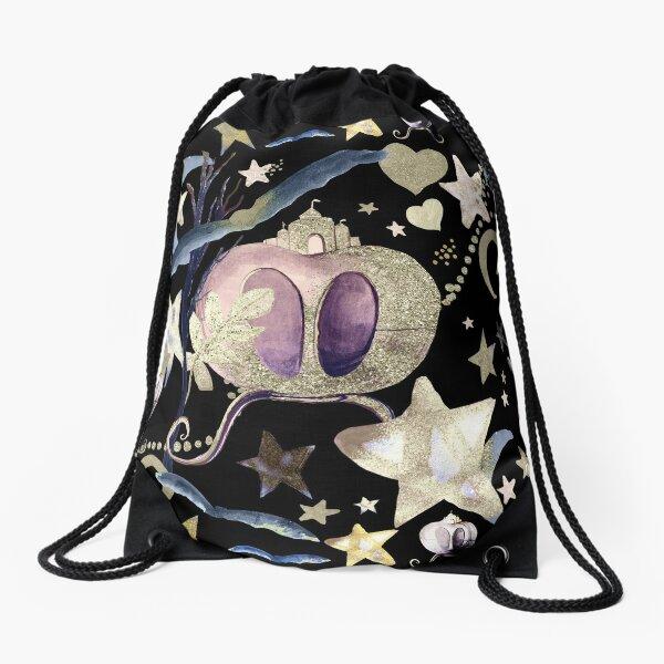 Fairy Rides Drawstring Bag