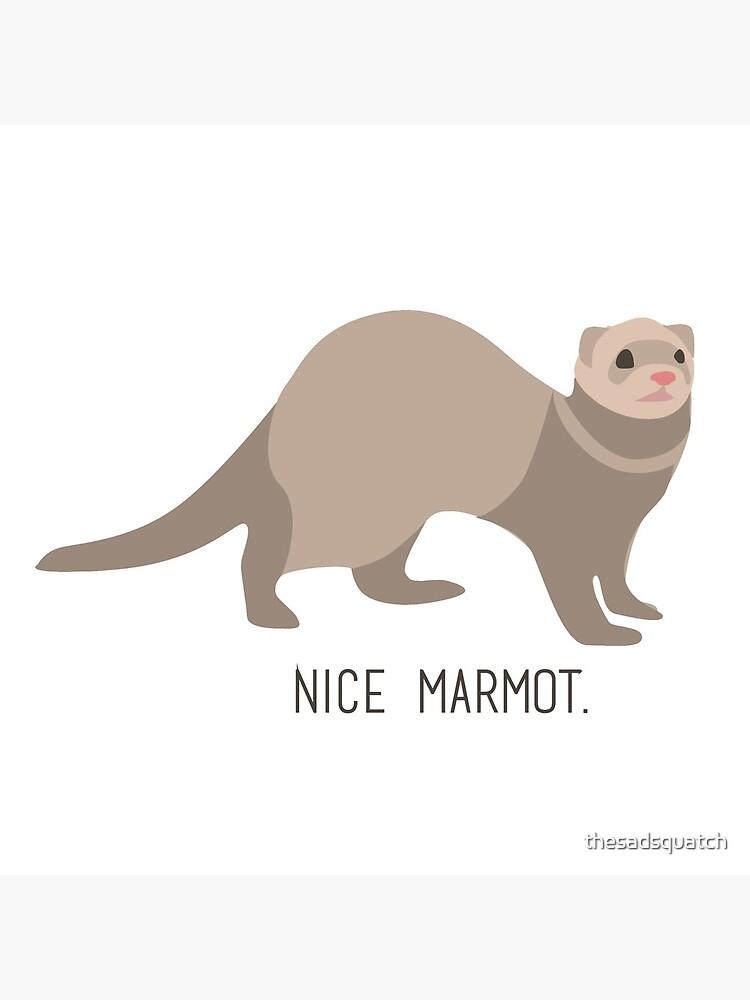 Nice Marmot - The Big Lebowski by thesadsquatch