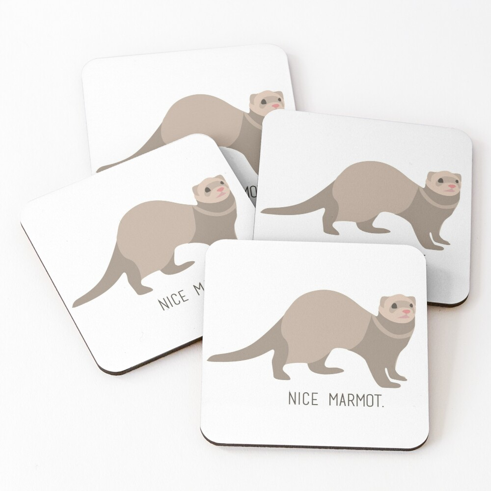 Nice Marmot - The Big Lebowski Coasters (Set of 4)