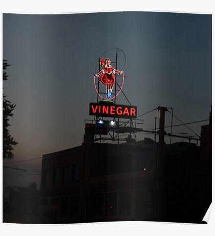 Skipping Girl Vinegar Poster