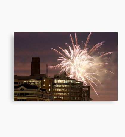 Fireworks over London Canvas Print