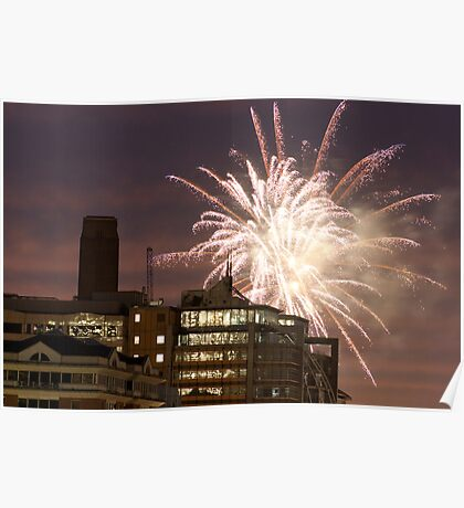 Fireworks over London Poster