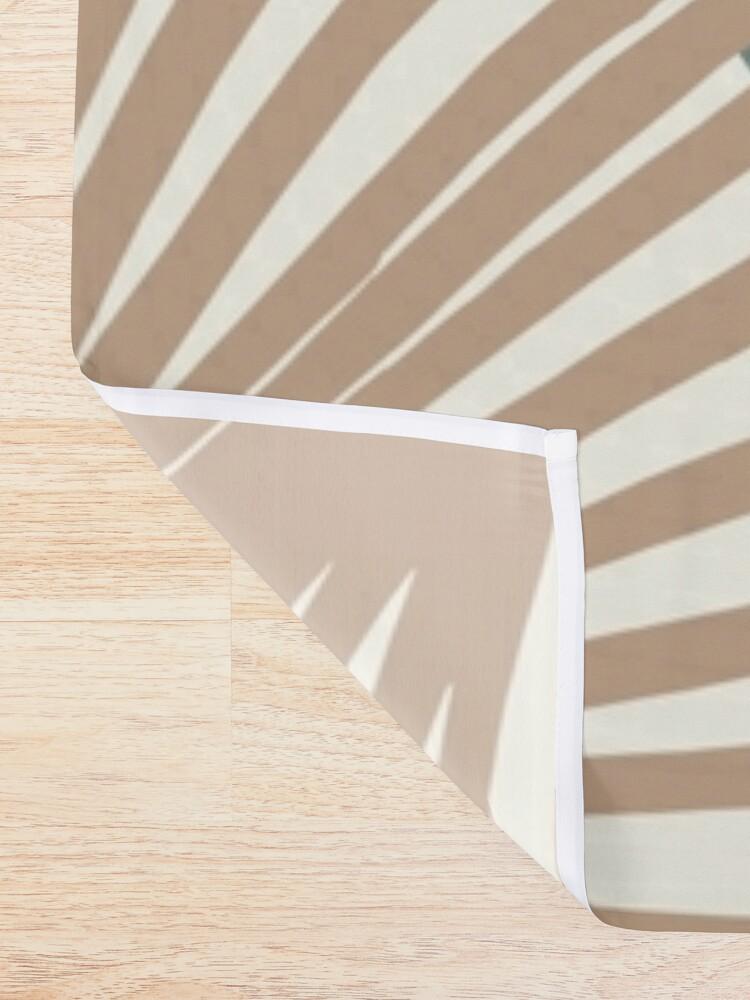 Alternate view of Minimal Yin Yang Monstera Fan Palm Finesse #1 #tropical #decor #art  Shower Curtain