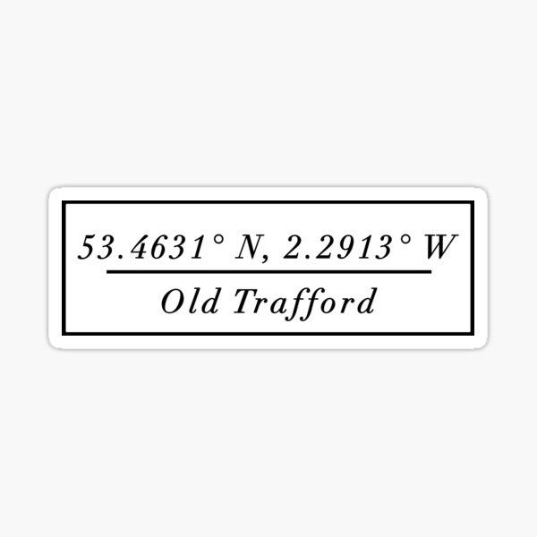 Old Trafford Sticker