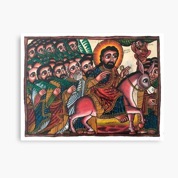 Hosanna   Ethiopian Icon of the Entry into Jerusalem Canvas Print