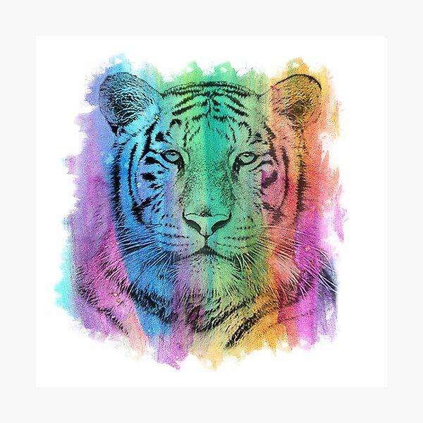 Watercolor Tiger Photographic Print