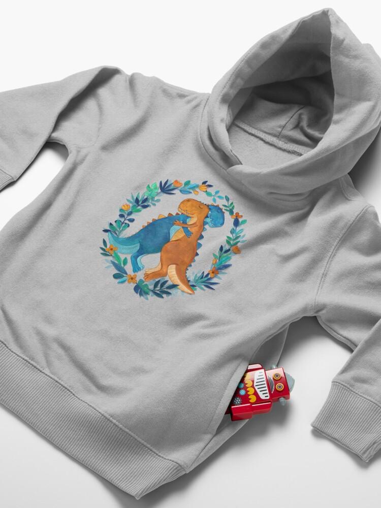 Alternate view of Dino Hugs Toddler Pullover Hoodie