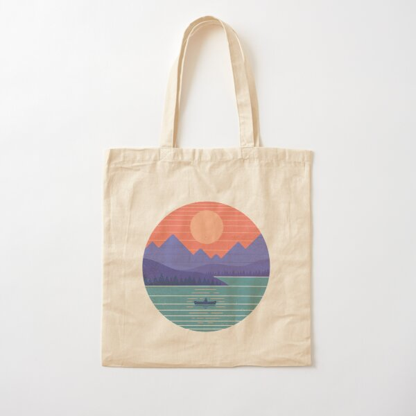 Peaceful Reflection Cotton Tote Bag