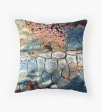 Blue Blazes Throw Pillow