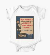 WPA United States Government Work Project Administration Poster 0980 War Workers Are You Looking for a House Philadelphia Homes Kids Clothes