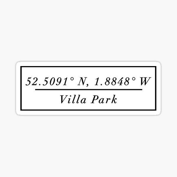 Villa Park Sticker