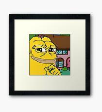Homer Pepe Framed Print