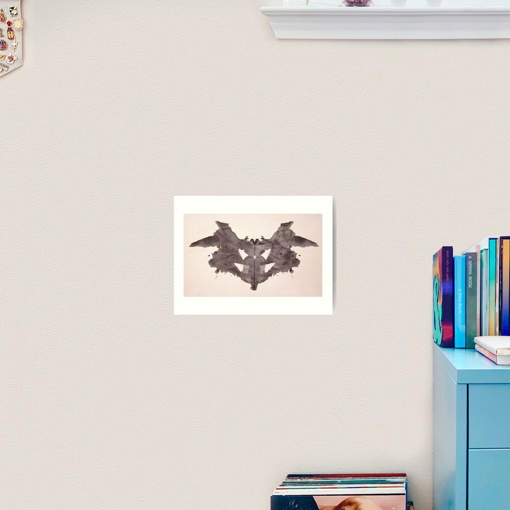 Psychology. Inkblot, first blot, Rorschach, inkblot test. Art Print