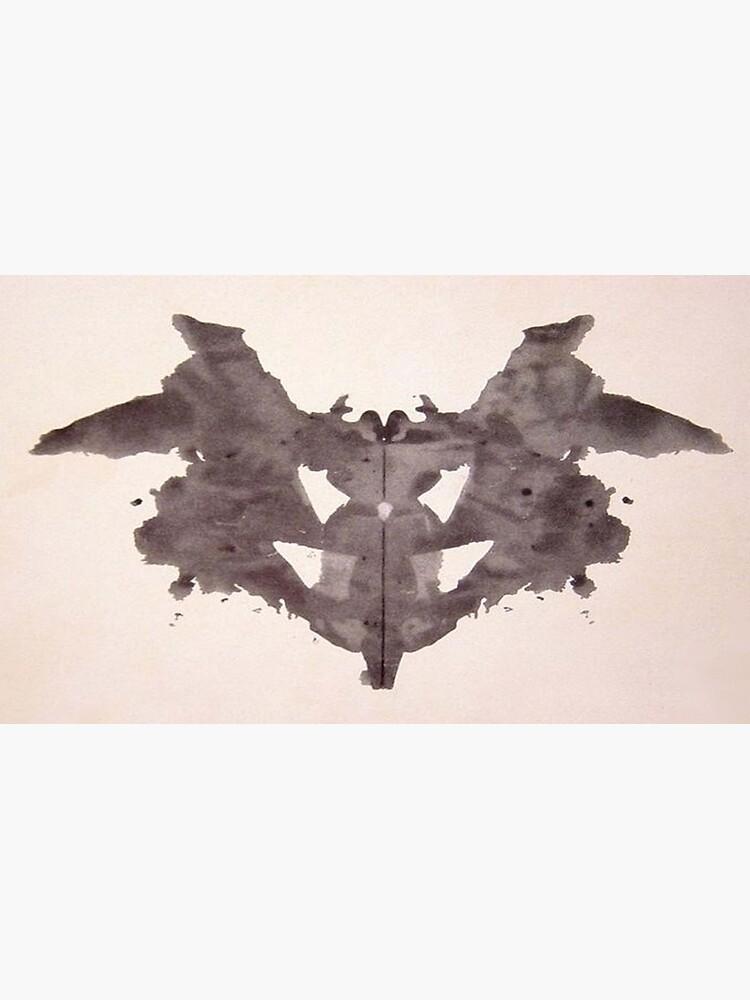 Psychology. Inkblot, first blot, Rorschach, inkblot test. by TOMSREDBUBBLE