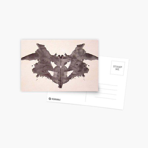 Psychology. Inkblot, first blot, Rorschach, inkblot test. Postcard