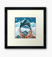climber in the everest Framed Print