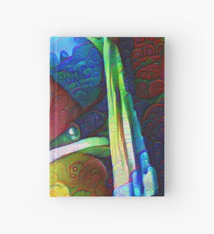 "DeepDreamed ""Girl with a Pearl Earring"" Hardcover Journal"