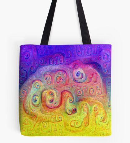 DeepDream Violet to Yellow 5K Tote Bag