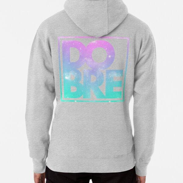 DOBRE Pink Galaxy Logo Pullover Hoodie