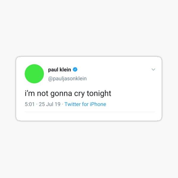 Paul Klein tweet Sticker