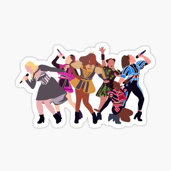 Chicago Queens - Six the Musical Sticker