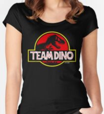 Team Dino Women's Fitted Scoop T-Shirt