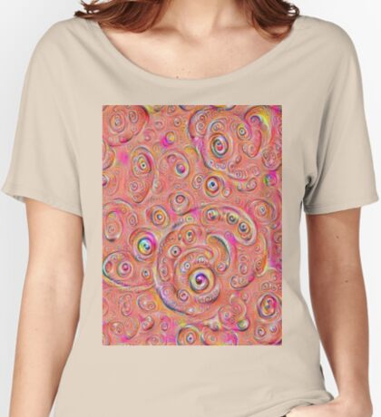 DeepDream Red Full 4K Relaxed Fit T-Shirt