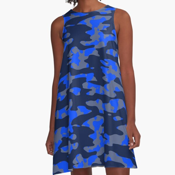 Camo Blues A-Line Dress
