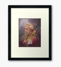 Racheals Portrait Old colonial style. Framed Print