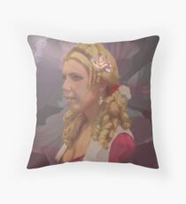 Racheals Portrait Old colonial style. Throw Pillow
