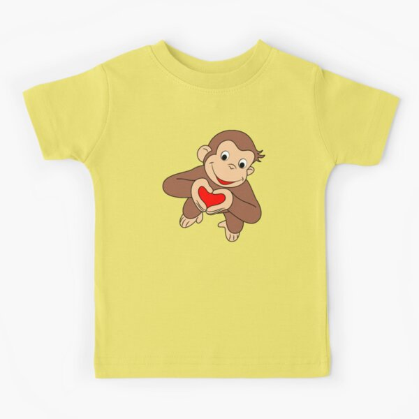 Curious George Is All Heart Kids T-Shirt