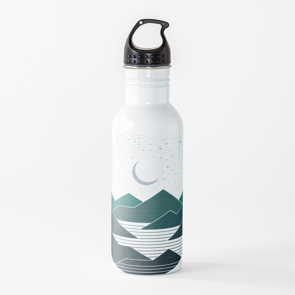Between The Mountains And The Stars Water Bottle