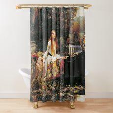 The Lady of Shalott, John William Waterhouse. Shower Curtain