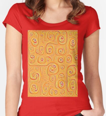 Deep Dreaming of a Yellow-Orange World 4K Women's Fitted Scoop T-Shirt