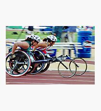 The Wheelchair Racers Photographic Print