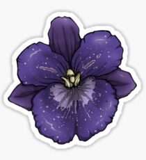 Speckled Purple Orchid Sticker