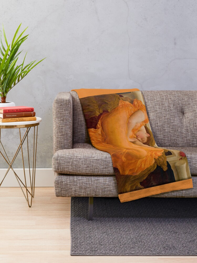 Flaming June 1895 Frederic Leighton Throw Blanket By Tomsredbubble Redbubble