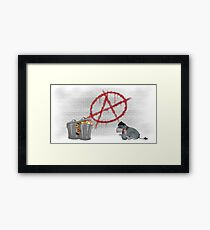 ANARCHY EEYORE Framed Print