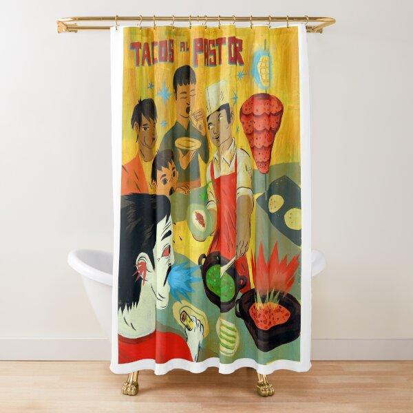 "Tacos Art ""Pastor"" Shower Curtain"