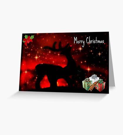 Santas Reindeer ©  Greeting Card