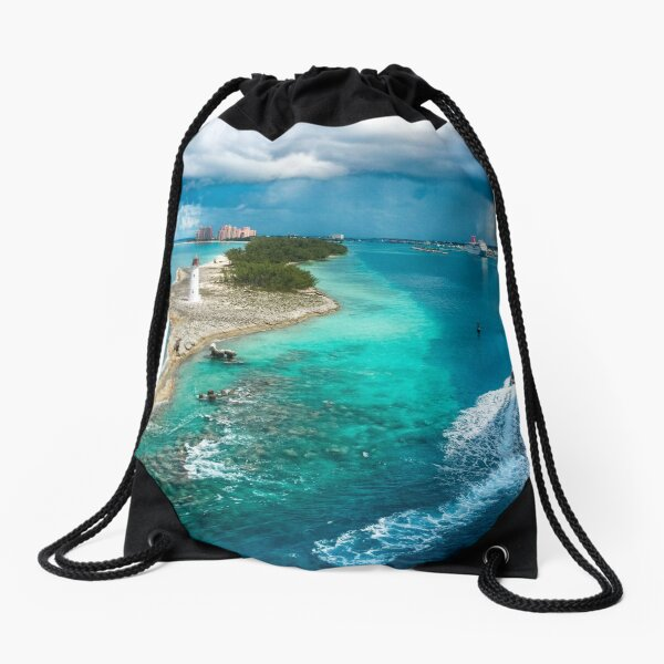Arriving to Port Drawstring Bag