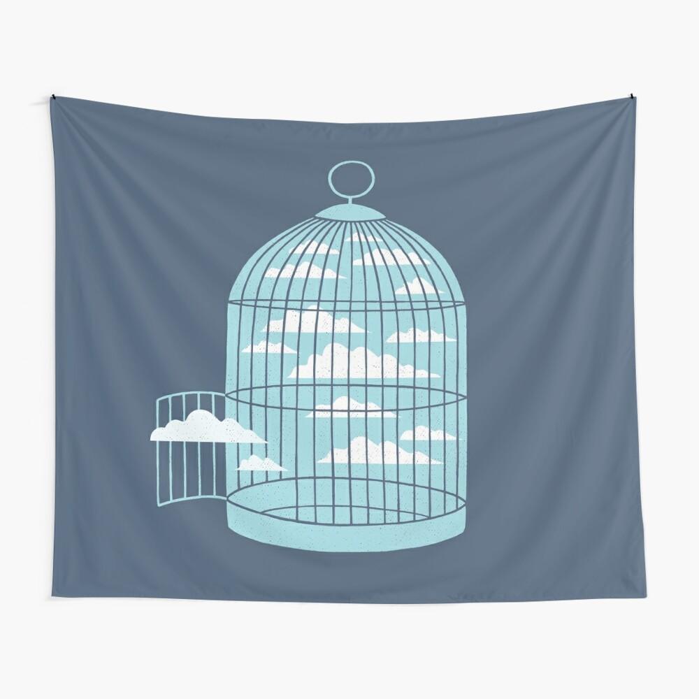 Frei wie ein Vogel Wandbehang
