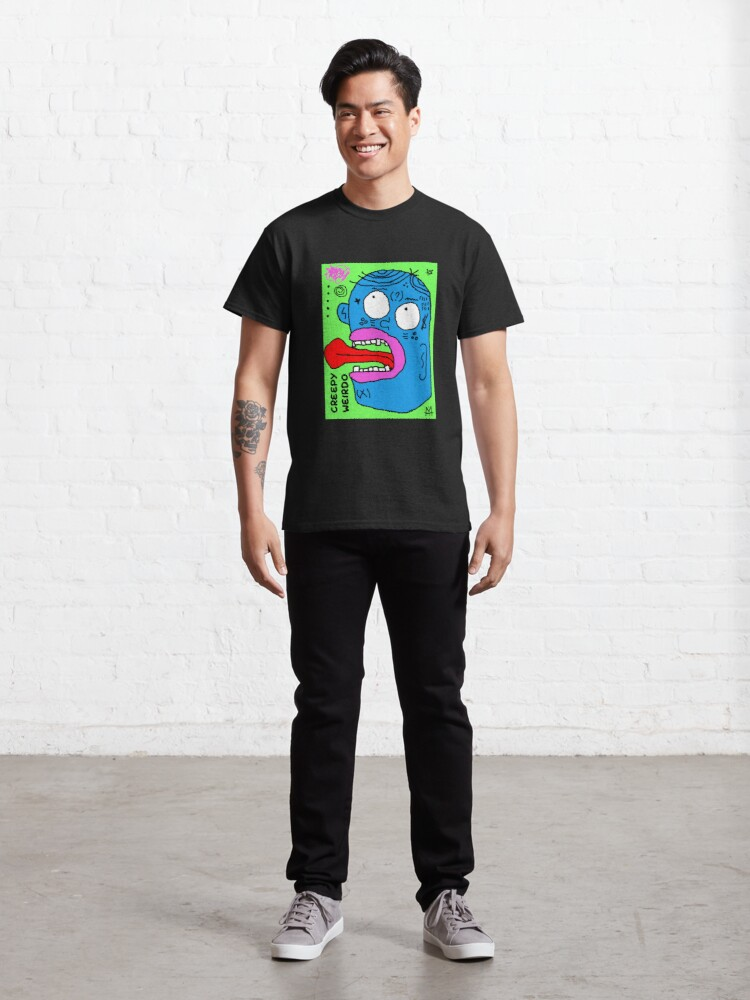 Alternate view of Scykosiz - creepy weirdo Classic T-Shirt