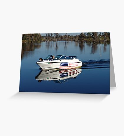 Captain America and First Mate Greeting Card