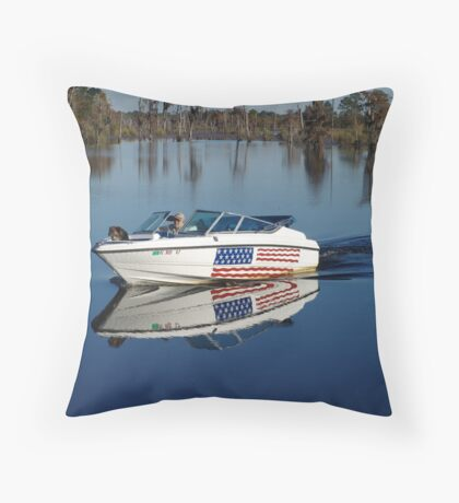 Captain America and First Mate Throw Pillow