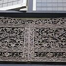 beautiful Tudor window carving detail by BronReid