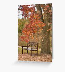 Fall's Saddness Greeting Card