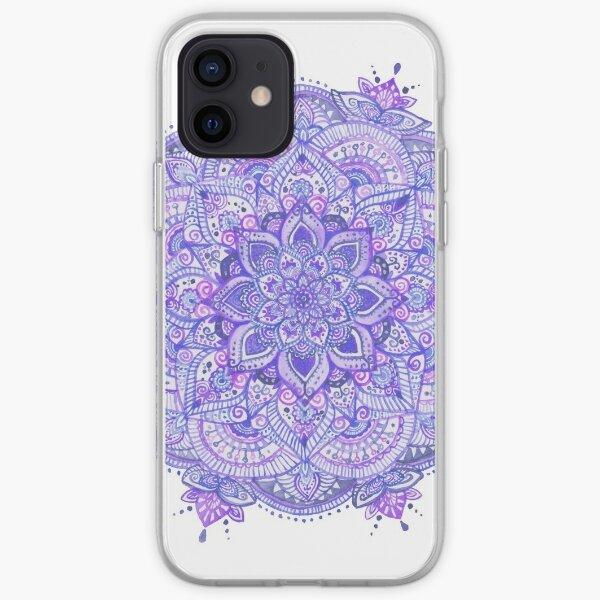 Watercolour Mandala Purple iPhone Soft Case