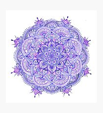 Watercolour Mandala Purple Photographic Print