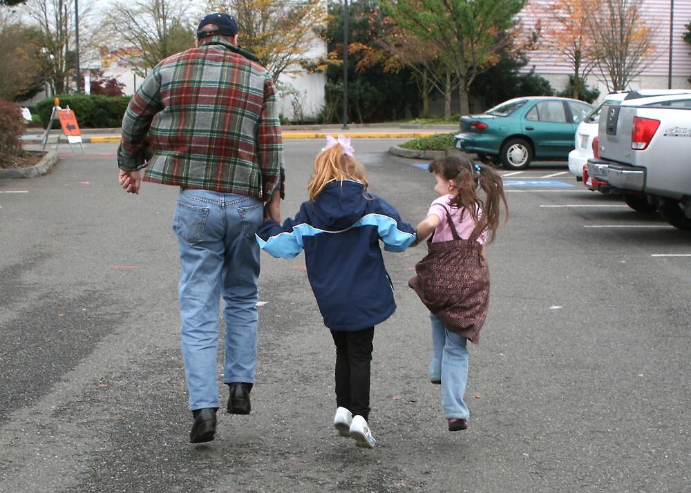 Teaching Grandpa to skip by Lorrie Davis